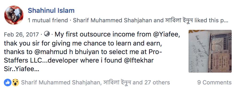 freelancing bangaldesh income